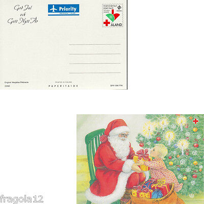 Aland 1996 - Natale - Christmas - Cartolina Postale (2) - Unused
