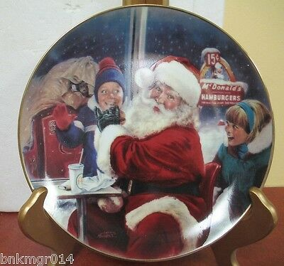 Bradford Exchange McDonalds Collector Plate A Well Deserved Break 1st Issue
