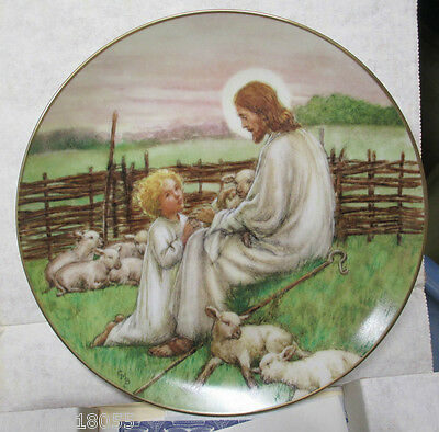 1988 WS George The Lord Is My Shepherd Barker Plate #rd *
