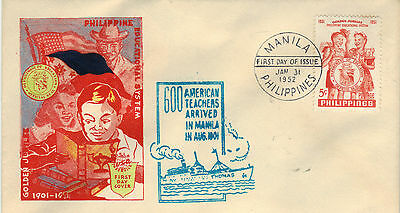 PHILIPPINES 1952 EDUCATIONAL Stamp FIRST DAY COVER SG727 Ref:CK57