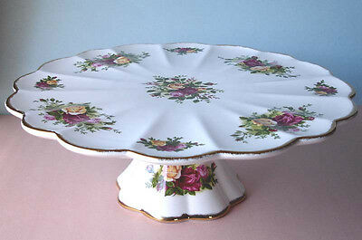 Royal Albert Old Country Roses Footed Pedestal Cake Plate Stand New