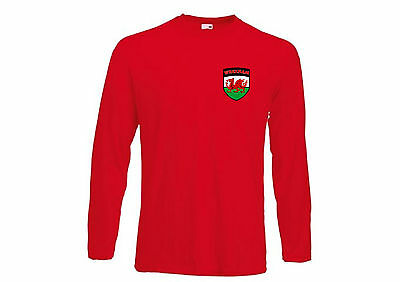 Wrexham FC Football Club Long Sleeved Red Football Soccer T-Shirt - All Sizes