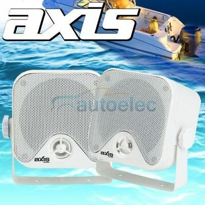 Axis Ma442 Marine Outdoor Surface Mount Speakers Box Boat Cd Stereo Radio New