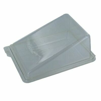 50 x Clear Cake Slice Box Container, Hinged Wedge Deli Takeaway Great Display
