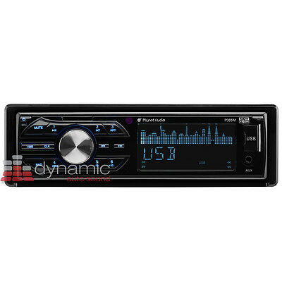 Planet Audio® P365M Single Din MP3/USB/AM/FM In-Dash Receiver with SD and AUX
