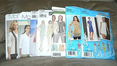 Lot of 7 McCall's Simplicity Project Runway Sewing Clothing Dress Patterns Women