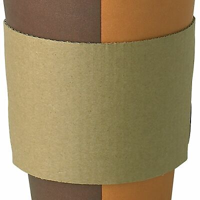 100x Large Coffee Clutches Sleeves Kraft Cardboard Suitable for 10,12,16oz cups
