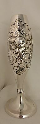 """830 Sterling Vase Oslow Norway by NM Thune - 6 7/8"""""""