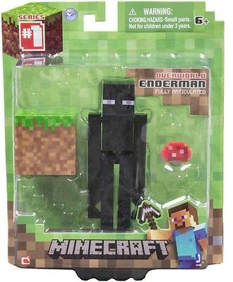 NEW Minecraft Overworld Enderman Figure Series #1 Articulated Collectable Toy