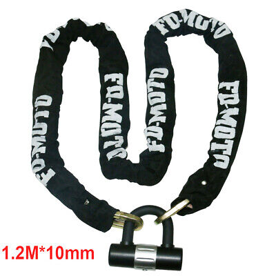 3KG STEEL Heavy Duty Scooter Motorcycle Motorbike Chain Disc Lock Security 1.2M