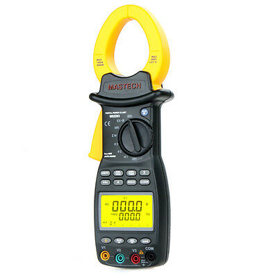 MASTECH MS2203 3-Phase Digital Power Factor Clamp Meter Tester With RS232 Cable