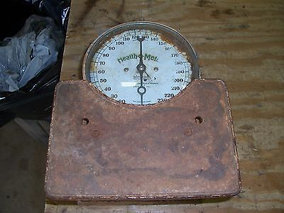 old vintage health o meter bathroom scale cast iron decor collectible antique