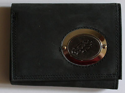 Black Leather Wallet License NFL Football Philadephia Eagles Medallion Trifold