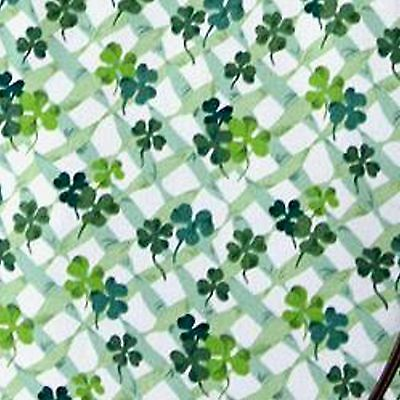 "Longaberger Fabric TABLE CLOTH /  SQUARE 36""  - St. Patrick's Day - Lots of Luck"