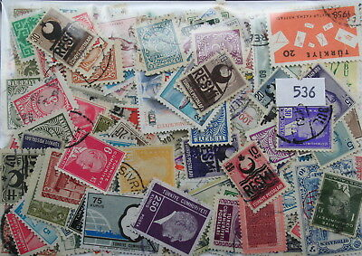 Turkey, 300 stamps in packet. (536)