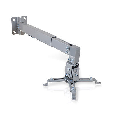 New Pyle Universal Projector Holder Wall Mount w/Telescoping Length Angle & Tilt