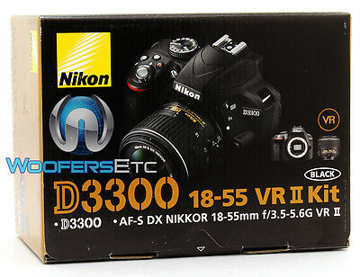 Nikon D3300 Dslr Camera 18-55Mm Lens Black Focus Exposure Control Brand New
