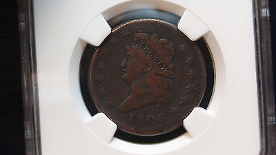 1808 P Classic Head Large Cent NGC VF Details Very Fine 1c Penny