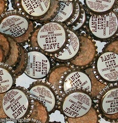 Soda pop bottle caps Lot of 25 RANCH CLUB CHOCOLATE cork lined new old stock