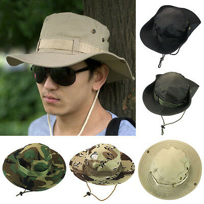 Bucket Hat Boonie Hunting Fishing Outdoor Wide Cap Brim Military Unisex Salable