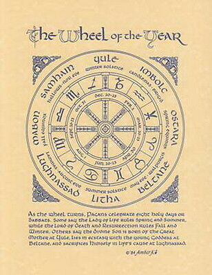 PAGAN YEAR A4 SIZE POSTER Wicca Pagan Witch Witch Goth BOOK OF SHADOWS
