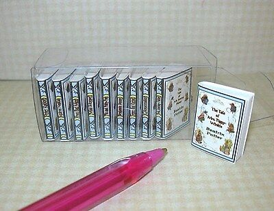 Miniature Beatrix Potter Collection, 10 Volumes: DOLLHOUSE Books 1/12 Scale