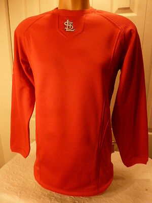 MENS Majestic ST LOUIS CARDINALS Authentic Therma Base Fleece Pullover RED