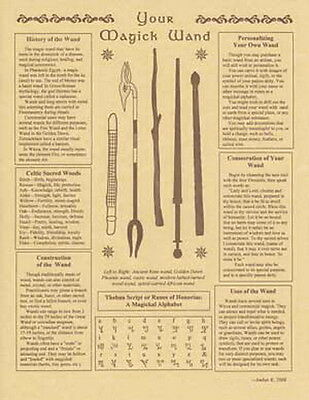 YOUR MAGICK WAND POSTER A4 SIZE Wicca Pagan Witch Goth BOOK OF SHADOWS