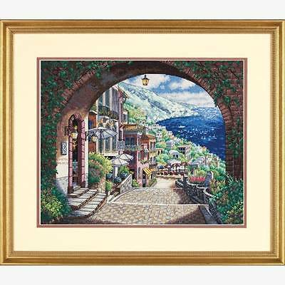 Dimensions Gold Collection Counted Cross Stitch COASTAL VIEW Scenery Kit-NIP