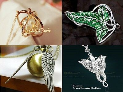 HOT HOT Wholesale 4x Set Hermione Rotating Time Turner LOTR Lord Pendan&Necklace