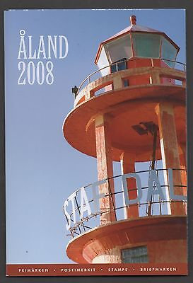 Aland 2008 Post Office Yearpack unmounted mint Stamps complete superb