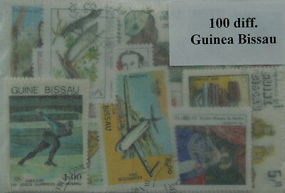 Guinea-Bissau, 100 stamps, all different (ww095)