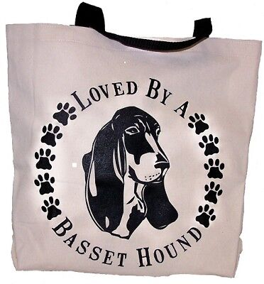 Loved By A Basset Hound Tote Bag New  MADE IN USA