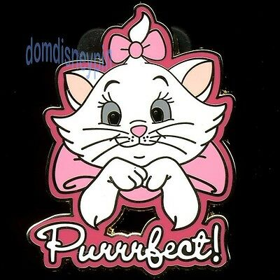 Disney Pin The Aristocats Marie *Pink Phrases* Collection - Purrrfect!