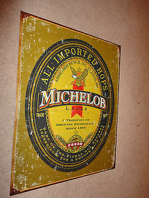 "Michelob Logo  Metal Tin sign 16"" x 12.5"""