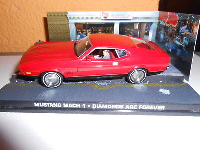 007 JAMES BOND, FORD MUSTANG MACH 1, DIAMONDS ARE FOREVER , FABRI  ,1/43