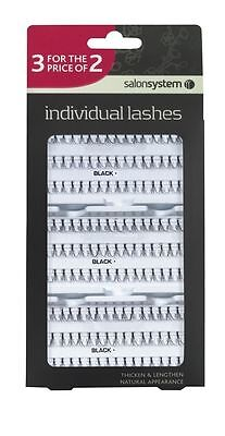 Individual Lashes Lengthen Natural Appearance Flare Black Long By Salon System