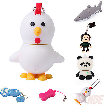 4GB Novelty Animal USB 2.0 Flash Drives High Speed Memory Storage Thumb Stick