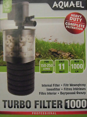 Aquael Turbo Filter 1000 Aquarium 150-250l Innenfilter Tauchfilter Filter Pumpe
