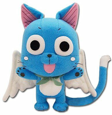 """New GE Animation Official Fairy Tail Anime Plush - 8"""" Happy (GE-6968)"""