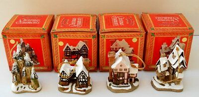 NEW David Winter 4 Pk Christmas Ornaments - Clearance!!