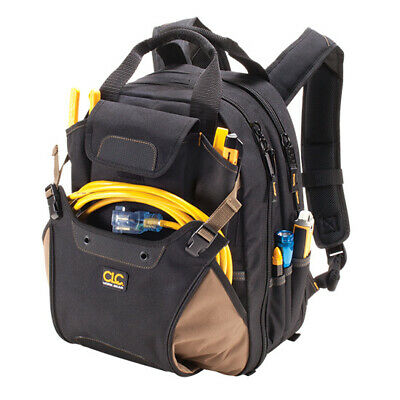 CLC 1134 Professional Tool 48 Pocket Deluxe Backpack Bag Carrier Padded Straps