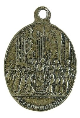 FIRST COMMUNION / HOLY SPIRIT Medal, bronze, cast from antique French original