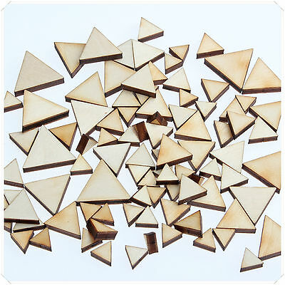 50pcs WOODEN MINI MIXED WOOD TRIANGLE DECOR IDEAL CRAFT CARD MAKING SCRAPBOOKING