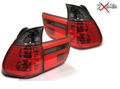 Bmw X5 E53 1998-2006 Lexus Design Red And Smoked Rear Tail Lights E Mark