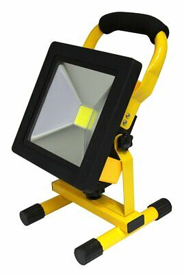 20W Rechargeable LED Work Flood Light Slimline IP65 Portable Hand Torch Lamp