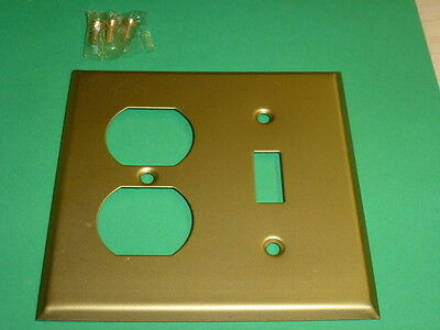 Nos! Brass Alloy, Combo Toggle Switch & 2-Gang Duplex Receptacle
