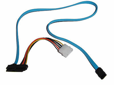 Strom Kabel 7 Pin SATA Serial ATA zu SAS 29 Pin & 4 Pin Molex HDD SSD Adapter