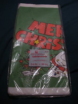 Vintage AMERICAN GREETINGS Merry Christmas ZIGGY  Paper Table Cloth New