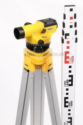 New Geo Dumpy Optical Auto Level With Tripod And Staff Calibrated Construction
